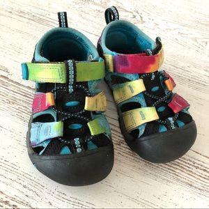 KEEN Rainbow Tie Dye Sandals 7